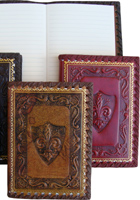 Stamped Leather Notebooks